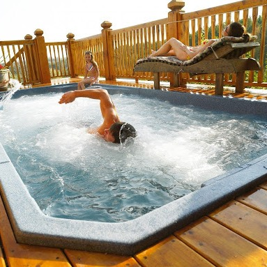 système nage contre courant piscine